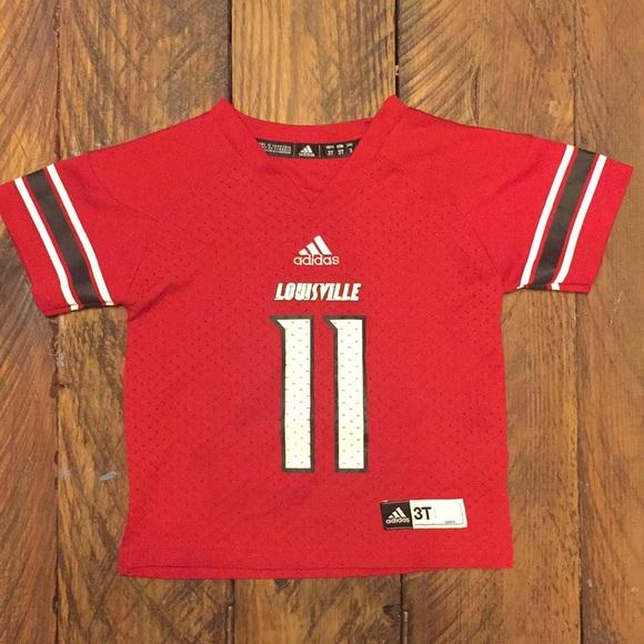 separation shoes a685b 134d7 EUC Louisville Cardinals adidas football jersey